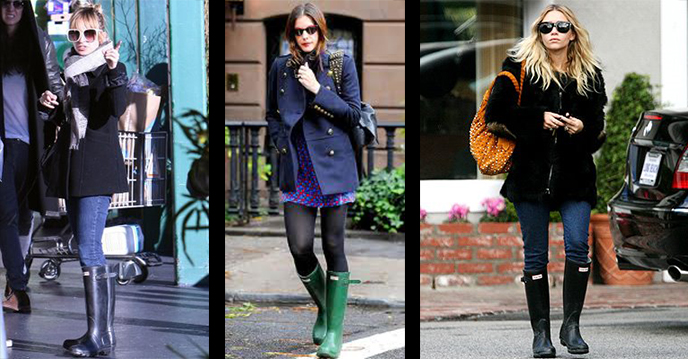 Celebrities Wearing Hunter Boots | InStyle.com
